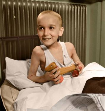 Jewish Boy Auschwitz Survior 1945